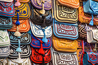 Leather bags in Souk