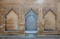 Tiled water fountain